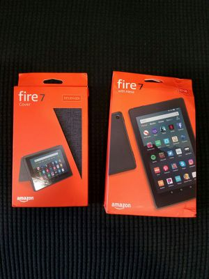 New!!! Amazon Fire 7 Tablet 32GB (9th Gen) PLUS Amazon Fire 7 Cover for Sale in Los Angeles, CA
