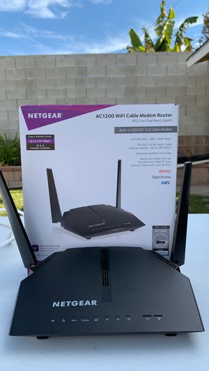 Netgear cable modem router for Sale in Whittier, CA