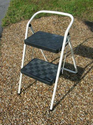 "Heavy Duty Dual Double Wide Step Folding Medal Ladder Foot Stool 24"" for Sale in Sunrise, FL"