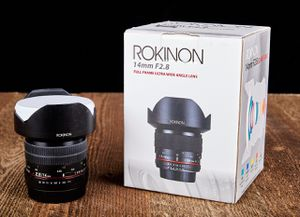 Canon EF mount full frame Rokinon 14mm f2.8 ED AS IF UMC ultra wide angle prime lens for Sale in Encinitas, CA