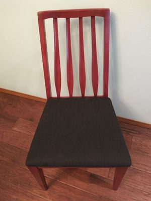 Refinished and reupholstered mid century mcm wood chair for Sale in Tacoma, WA