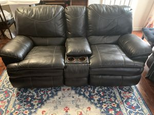 Reclining leather couch for Sale in Potomac Falls, VA