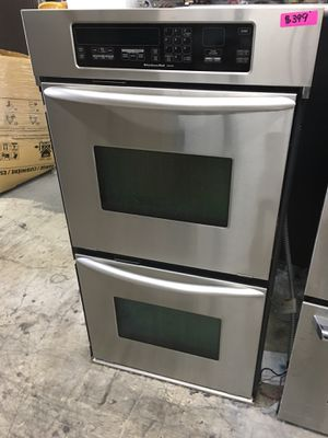 """Kitchen aid stainless steel 27"""" double oven used for Sale in Tustin, CA"""