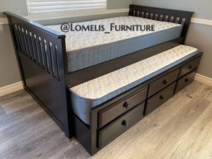 TWIN/TWIN TRUNDLE BEDS W MATTRESSES INCLUDED. for Sale in Corona, CA
