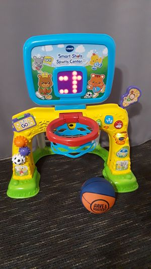 Basketball and soccer toy with music and lights, practicaly new. for Sale in Riverside, CA