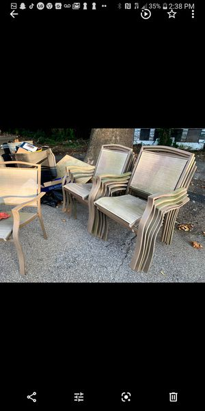 Patio chairs outdoor furniture for Sale in Barrington, NJ