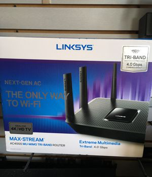LINKSYS MAX STREAM AC4000 MU MIMO TRI BAND ROUTER for Sale in Jessup, MD
