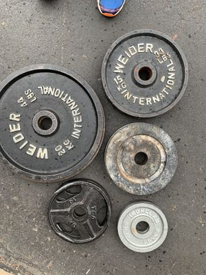 234lb Olympic weight set-mixed matched for Sale in Parker, CO