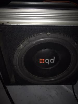 12 inch sub and 2 channel amp for Sale in Moreno Valley, CA