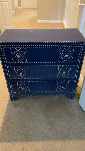 Blue studded chest drawer for Sale in Redmond, WA