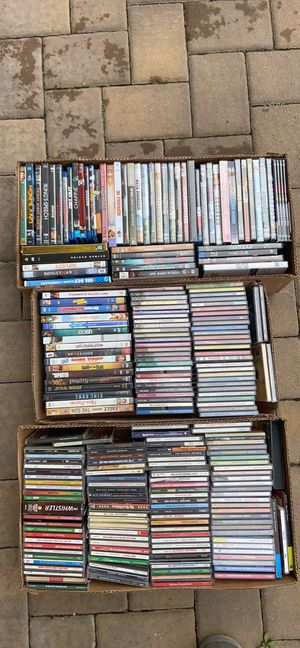 Massive lot of DVDs and CDs bulk media lot $40 for all for Sale in Island Park, NY