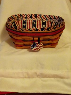 Longaberger 4th of july basket for Sale in Columbus, OH