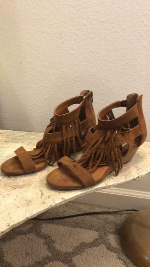 John Madden fringe wedge sandals for Sale in Las Vegas, NV