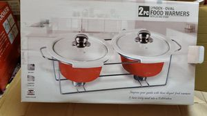 2 pcs casserole with lid, stand and warmer for Sale in Hayward, CA