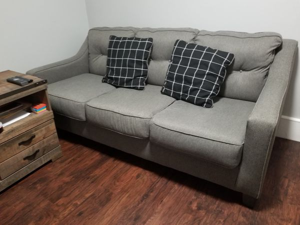 Gray 2 and 3 seats sofa.