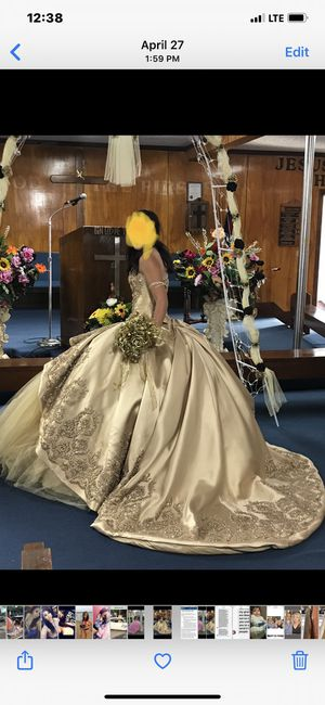 Gold Formal Gown for Sale in Waxahachie, TX
