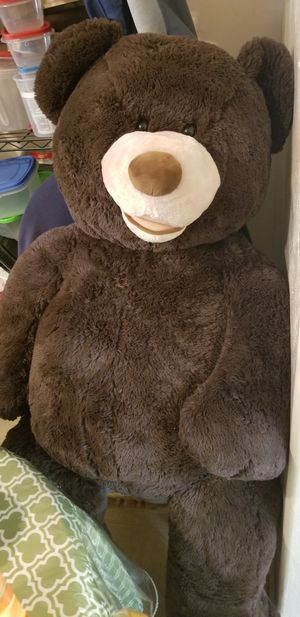 Large Dark brown teddy bear 51 inches tall for Sale in Fremont, CA