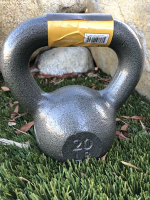 Kettlebell kettle bells Weights 20lb new 1-$40 2-&75 for Sale in Fontana, CA