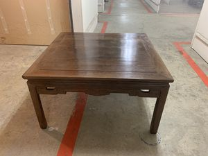Chinese antique hardwood coffee table for Sale in Bellevue, WA