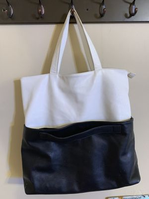 Large Forever 21 black and white tote bag for Sale in Austin, TX