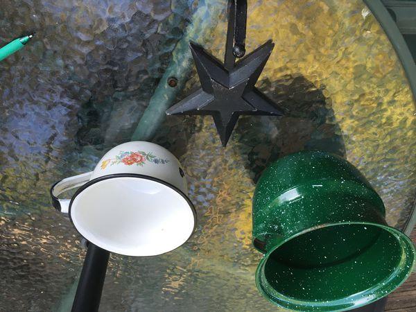 Metal Decorations: (3) Pieces