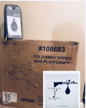 Speed bag .......New in box. Bracket & ball for Sale in Lyndhurst, NJ
