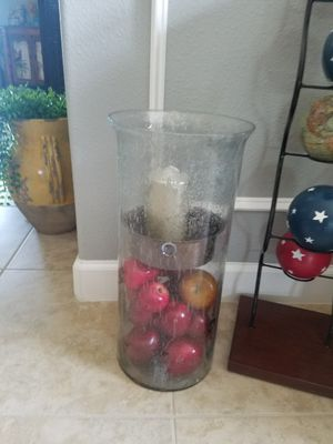 What would a large candlestick holder that you can put anything underneath right now I have red apples they are included in the price for Sale in Palm Shores, FL