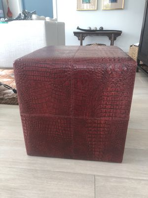Artefacto croc embossed leather side table for Sale in Miami, FL