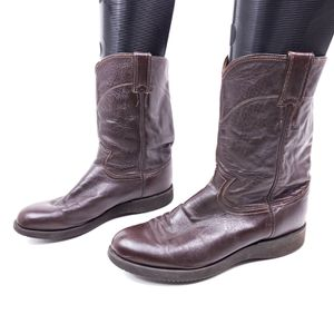 Just Boots Mens Size 8.5 D Pull On Riding Boots.Brown Leather. Pre Owned $50 OBO! for Sale in Seattle, WA