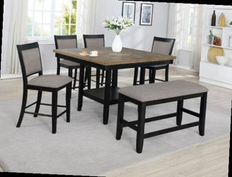 6 Pcs counter height dining table. Price firm. for Sale in Pomona,  CA