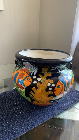 Mexican hand painted Planter/Pot for Sale in West Covina, CA