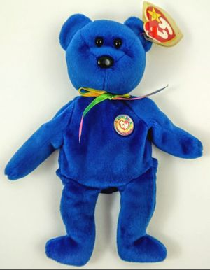 """TY BEANIE BABY BABIES """"CLUBBY"""" 01 1998 OFFICIAL CLUB BEAR ROYAL BLUE 1998 VGUC for Sale in Winter Haven, FL"""