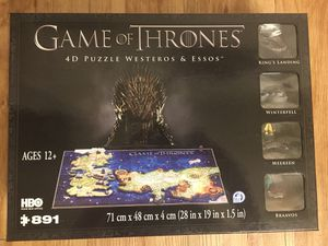 4D Game of Thrones: Westeros Puzzle - NEVER OPENED for Sale in Henderson, NV