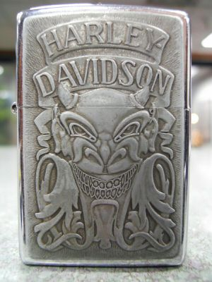 Zippo Harley-Davidson Demon Devil Satan Diablo Pewter Chrome Lighter XII 1996 USED for Sale in San Fernando, CA