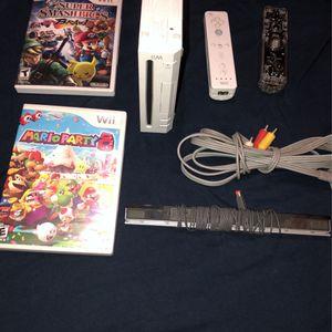 Nintendo Wii, Mario Party 8, Smash Bro's Brawl for Sale in San Diego, CA