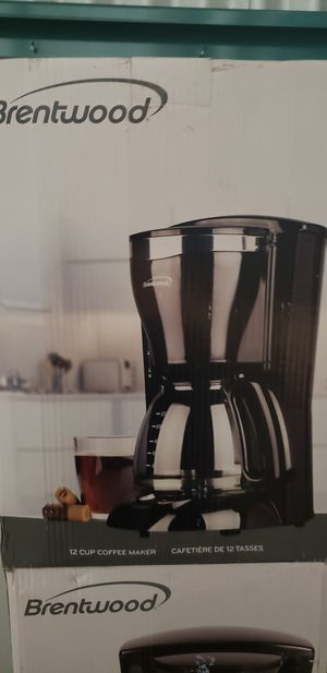Brentwood RA30856 Appliances TS-217 12-Cup Coffee Maker (Black or White) for Sale in Buena Park, CA