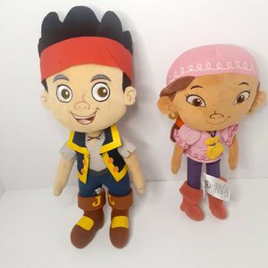 Disney Store Jake and the Neverland Pirates Jake & Izzy Girl Plush Doll Lot 2 . for Sale in Los Angeles, CA