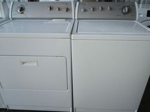 Whirlpool washer and whirlpool dryer electric commercial quality super capacity for Sale in Bedford, TX