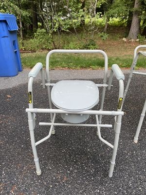 Portable toilet with safety arms for Sale in Burlington, CT