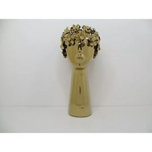 Gold 12 inch Arrangements Ceramic Glass Art Decoration Flower Head Sundries Vase for Sale in Los Angeles, CA