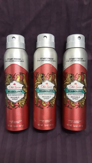 "Old Spice ""Bearglove"" Invisible Spray anti-perspirant deodorant for Sale in Oakland, CA"