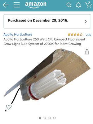 250 Watt Florescent Grow Light for Sale in Wakefield, MA