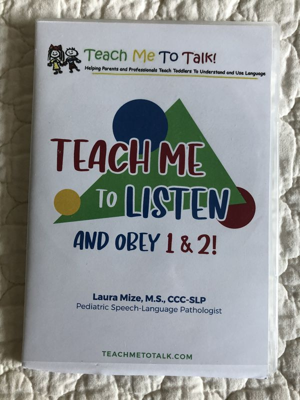 Teach Me To Talk Therapy Manuals and DVD's