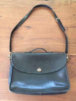 Vintage Coach messenger bag - black leather for Sale in Gilbert, AZ
