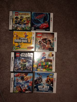 Nintendo Five 3DS games and three 2DS games for Sale in Dripping Springs, TX