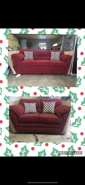 Red Sofa and Love Seat for Sale in San Bernardino, CA