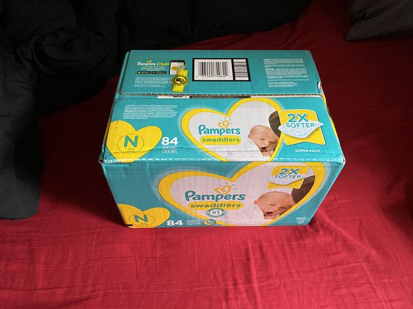 Brand new box of Newborn Pampers
