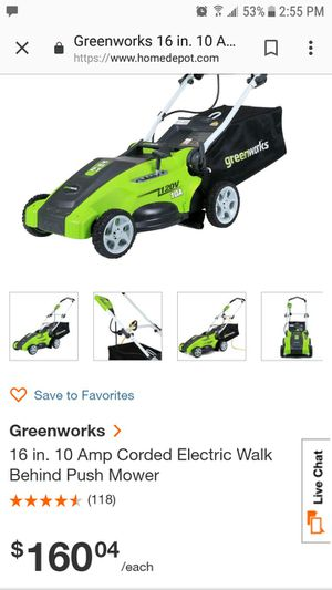 electric lawn mower for Sale in Oxford, MI