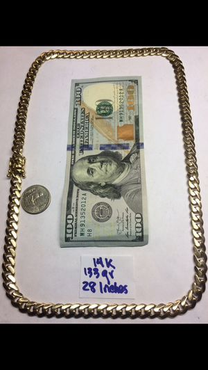 14K Solid Gold Chain 🇨🇺 Links 133Gr 28 Inches for Sale in Hialeah, FL