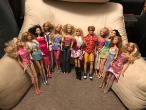 12 set of Barbies Including Ken Doll for Sale in Diamond Bar, CA